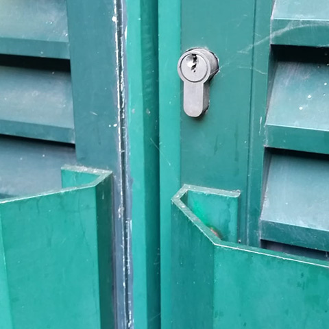 Steel Door Lock Installation